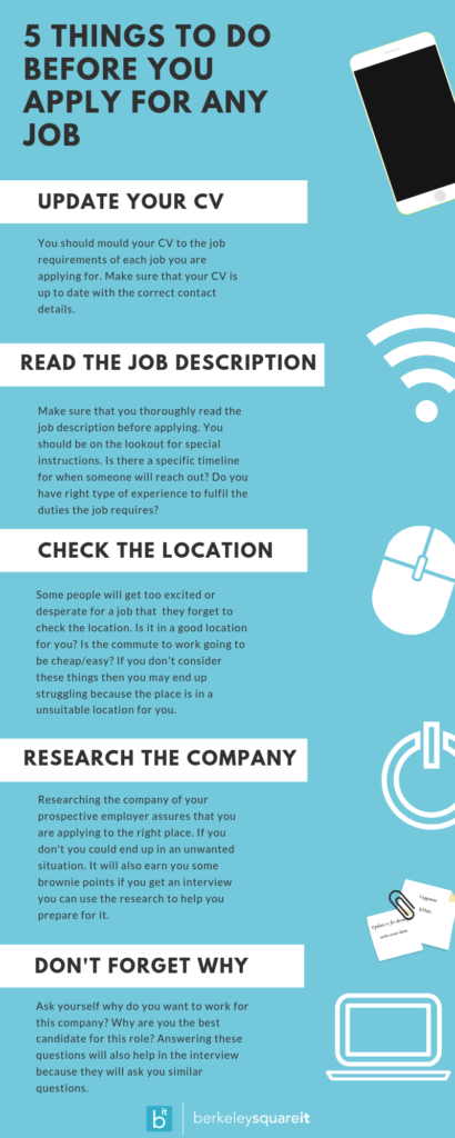 5 Things To Do Before You Apply For Any Job